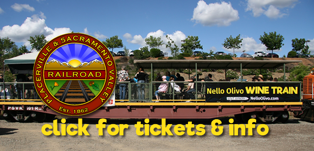 Visit the Placerville & Sacramento Valley Railroad website for tickets and info